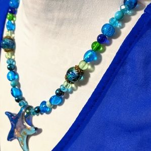 Hand crafted glass star fish & Beads